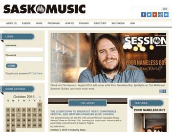 saskmusic.org screenshot