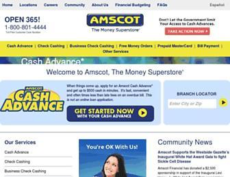 amscot.com screenshot