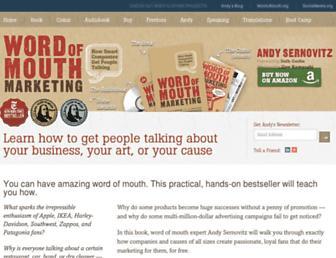 wordofmouthbook.com screenshot