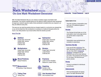 Thumbshot of Themathworksheetsite.com