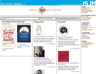 Main page screenshot of ricochet-jeunes.org