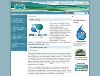 Main page screenshot of worldwaterforum5.org