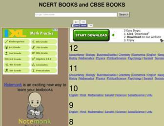 ncertbooks.prashanthellina.com screenshot
