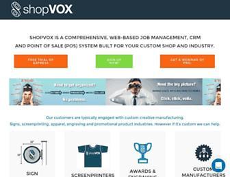 shopvox.com screenshot