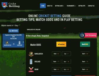 cricketbetting.net screenshot