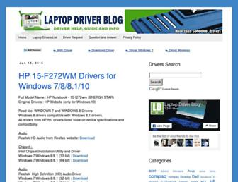 laptop-driver.blogspot.com screenshot