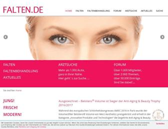 Main page screenshot of falten.de