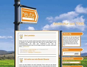 Main page screenshot of wohin.heute.de