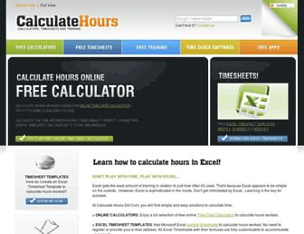 calculatehours.com screenshot