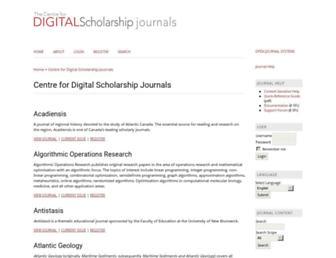 journals.lib.unb.ca screenshot