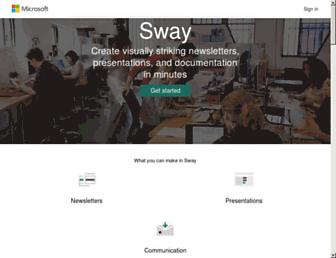 sway.office.com screenshot