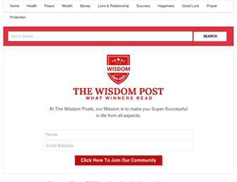 thewisdompost.com screenshot