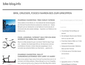 Main page screenshot of bike-blog.info