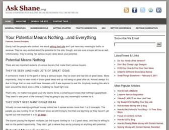 Thumbshot of Askshane.org