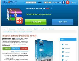 rar.recoverytoolbox.com screenshot