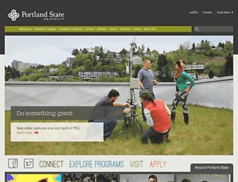 Main page screenshot of pdx.edu