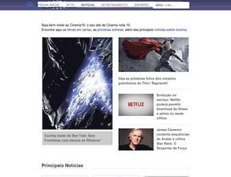 cinema10.com.br screenshot