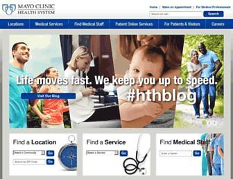 mayoclinichealthsystem.org screenshot