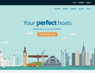 Main page screenshot of solarhost.co.uk