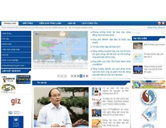 Main page screenshot of dmhcc.gov.vn