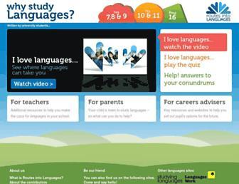 whystudylanguages.ac.uk screenshot