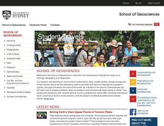 geosci.usyd.edu.au screenshot