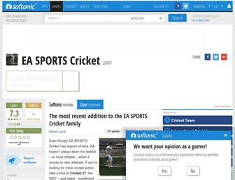 ea-sports-cricket.en.softonic.com screenshot