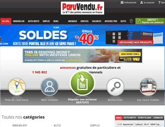 Main page screenshot of paruvendu.fr