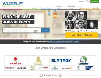 wuzzuf.net screenshot