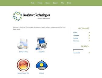 Main page screenshot of neosmart.net