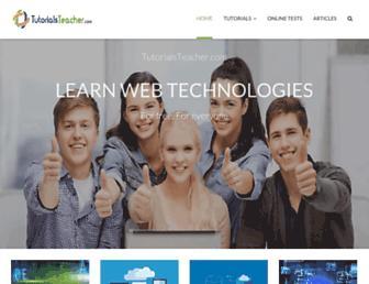 tutorialsteacher.com screenshot