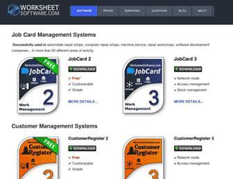 worksheetsoftware.com screenshot