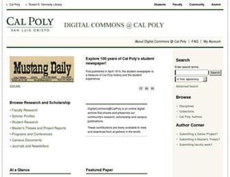 digitalcommons.calpoly.edu screenshot