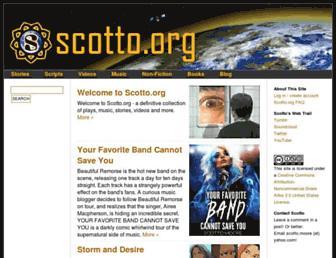 Main page screenshot of scotto.org