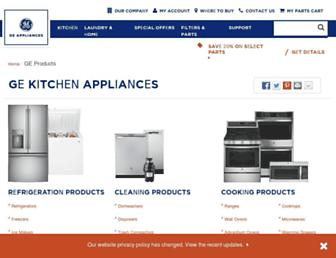 products.geappliances.com screenshot