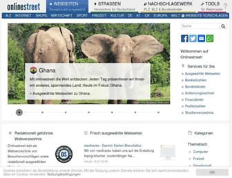 Main page screenshot of onlinestreet.de