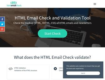 htmlemailcheck.com screenshot