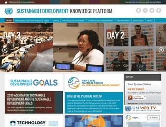 sustainabledevelopment.un.org screenshot