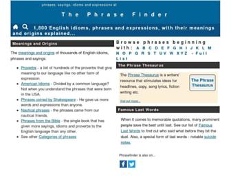 phrases.org.uk screenshot