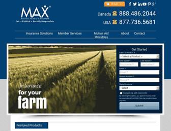 maxinsurance.com screenshot