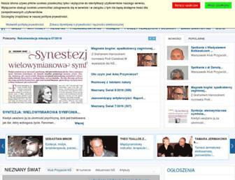 Main page screenshot of nieznanyswiat.pl
