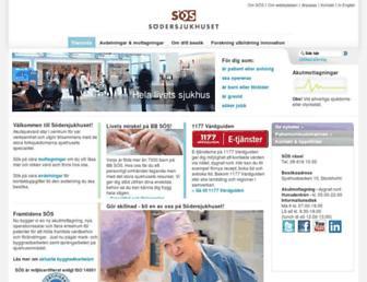 Thumbshot of Sodersjukhuset.se