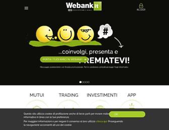 Main page screenshot of webank.it