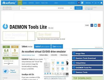 daemon-tools-lite.en.softonic.com screenshot