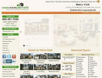 westhomeplanners.com screenshot