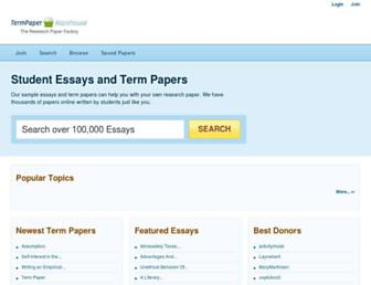 termpaperwarehouse.com screenshot