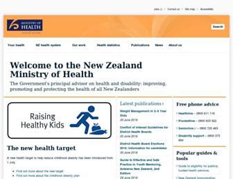 health.govt.nz screenshot