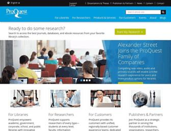Thumbshot of Proquest.com