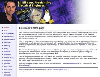Main page screenshot of billauer.co.il