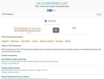 companieslist.co.uk screenshot